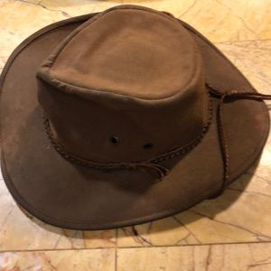 Outback brown leather hat extra pics
